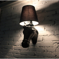 LED Living Room Light Wall Sconce Modern Style Horse Face Wall Lamps Black bedroom wall light bedside lighting horse Wall Lamps