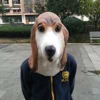 Halloween New Design Fox Terrier Masks Lovely Mild pet Dog Retaining Cap High Qualtiy Latex Animal Masks Masked Ball Props