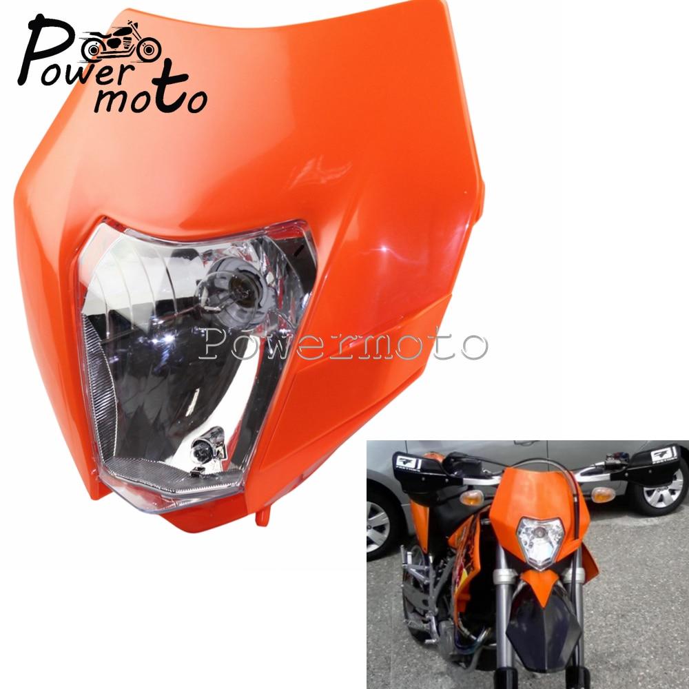 New Ktm Orange Universal Motorcycle Headlight Enduro Mx Trail Ktm Exc Sx Sxf Xc