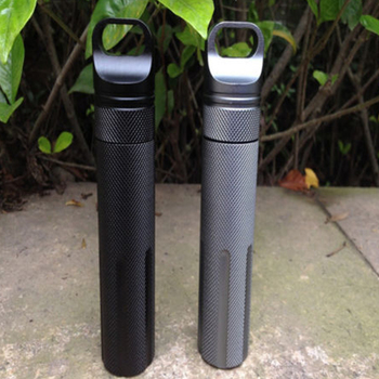 New CNC Outdoor Survival Waterproof Tank Medicine Pill Bottles Mini EDC Box for Storage Cigarette Matches Camping Gear