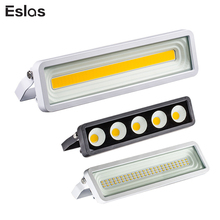Eslas Floodlight Outdoor Lighting 50W Wall Lamp Projector Garden LED Flood Light Waterproof IP66 Street Lights For Garage