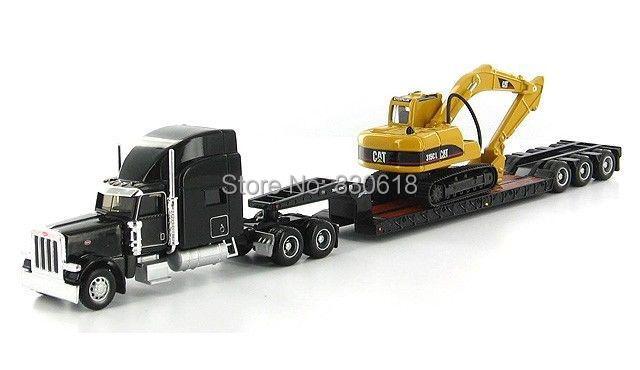 ФОТО Caterpillar Cat Norscot Trail King Lowboy Trailer And Cat 315C L 1:87 Construction vehicles #55415