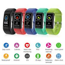 Fashion Kebugaran Tracker Langkah Counter Activity Monitor Band Smart Gelang Gelang Clock Getaran Gelang IOS Android Ponsel(China)