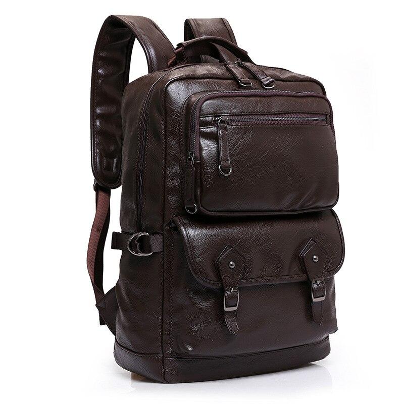 Vache en cuir véritable hommes sacs à dos nouvelle mode véritable en cuir naturel étudiant sac à dos garçon de luxe marque grand ordinateur pochette d'ordinateur