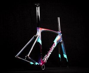 Image 3 - 2020バイクカーボン道路フレーム自転車フレームカメレオン色フレームセットbicicletaフレーム炭素繊維安価なカーボンロードバイク