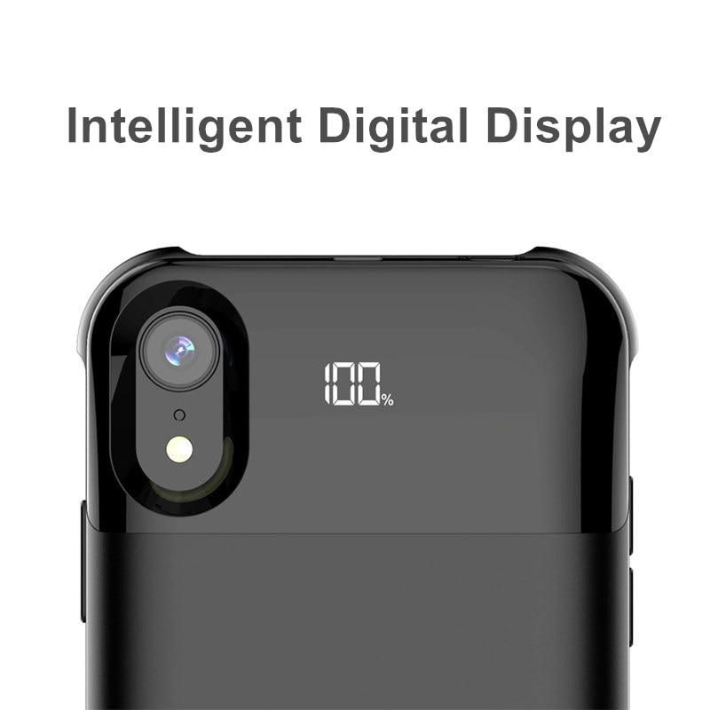 5500mah pour Iphone XR XS Max XS boîtier de batterie alimentation séparée sans fil étui de batterie de charge affichage numérique intelligent