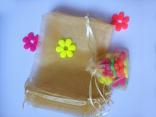 50pcs 30 40cm Gold Organza gift bag jewelry packaging display bags Drawstring pouch for bracelets necklace