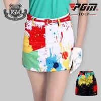 2016 New PGM Golf Shorts Skirt Ladies Golf Safety Sport Shorts Fashion Print Skirt Prevent Exposure