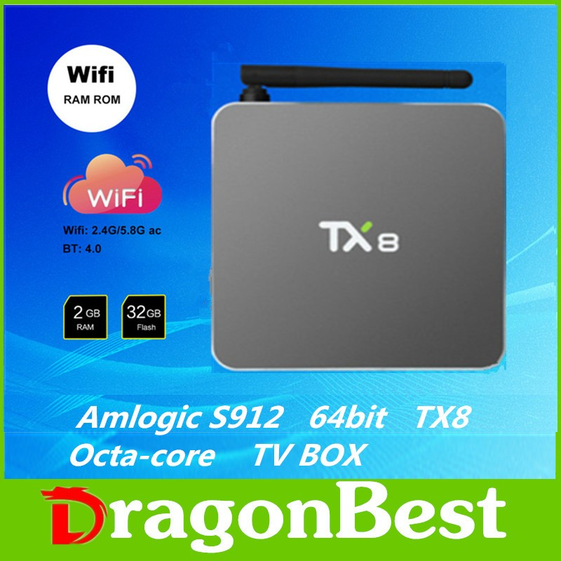 font b Smart b font tv box Android 6 0 Amlogic S912 Octa core Set