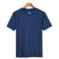 Quick Drying Sport T Shirts Men L to 8XL Big Size Man Tshirts Thin Nylon Breathable Gym Tops Yarn Dyed Jogging Running T Shirts