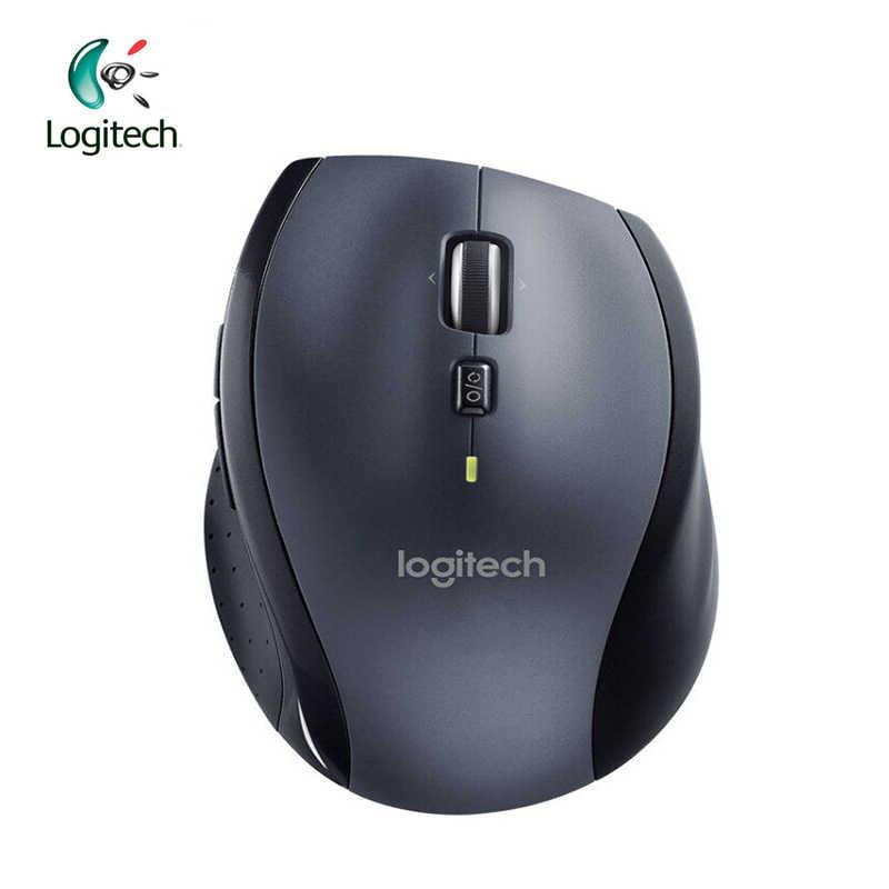 Logitech M705 Laser Mouse Nirkabel Dukungan Verifikasi Resmi dengan 2.4 GHz Nirkabel 1000 Dpi untuk Windows 10/8/ 7