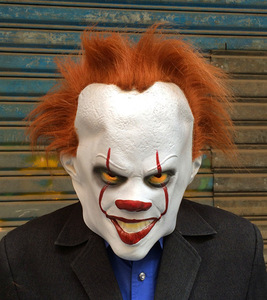 Image 5 - Clown cosplay Stephen Kings It Pennywise Cosplay Costume Adult men women Fancy Halloween horror costume Men adult mask