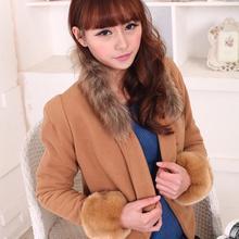 Womens Winter Warm Wrist Arms Fashion Rabbit Faux Fur Bracelet Cuff Wristband Oversleeve Arm Warmmer Accessories Z4