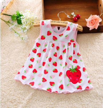 Xemonale 2017 new baby cute girl wearing sleeveless dress wear casual clothing cotton 100% conventional micro Princess 0-24 M