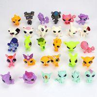 30 Teile/los Cute Pet Mini Action-figuren Spielzeug Lustige Tier Katze Hund Welpen Kollektion Kinder Spielzeug Für Kinder Geburtstag Geschenke
