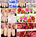 New Arrival Fashion 50pcs Different styles Nail Wraps Flower Nail Art Stickers Polish Watermark Nail Stickers