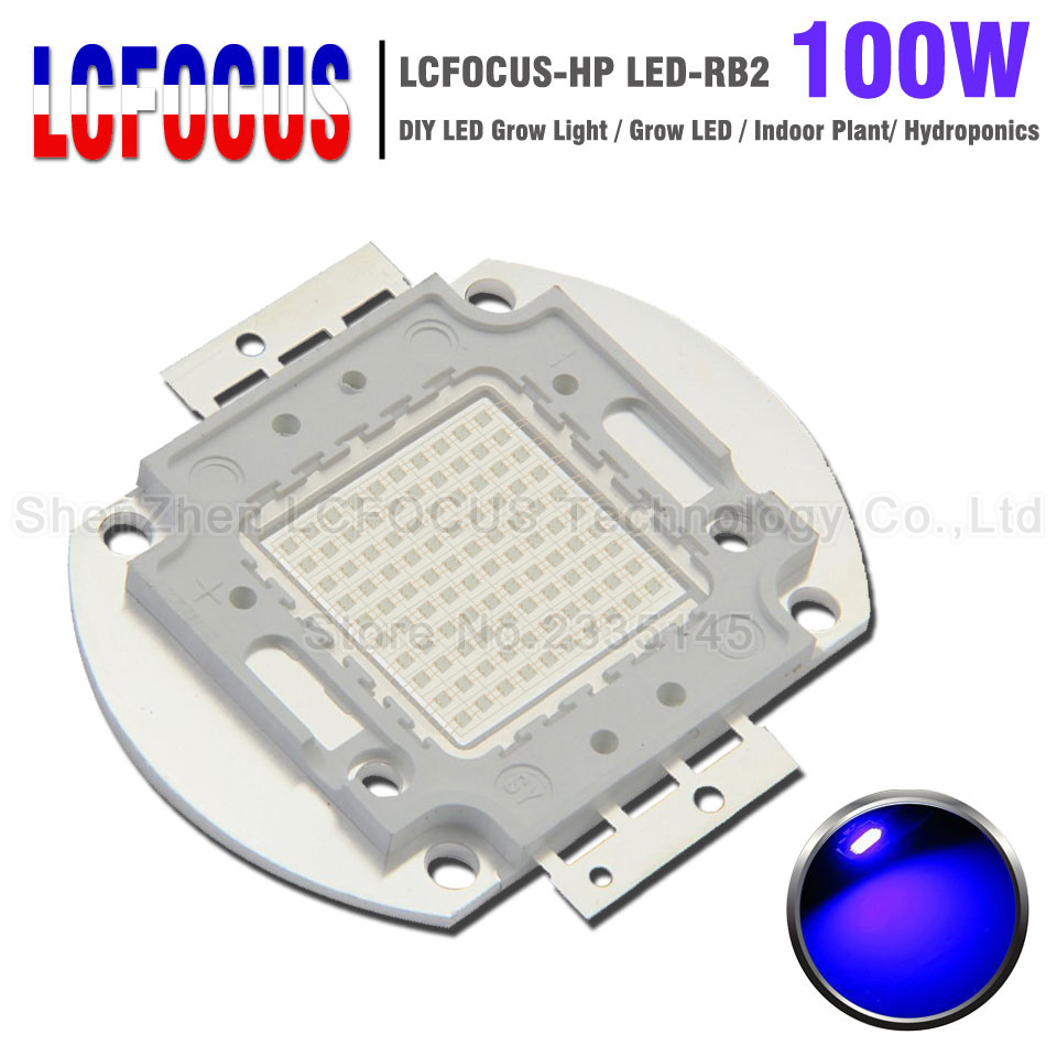 High Power LED Chip 100W Royal Blue 440nm <font><b>470nm</b></font> Light Source COB DIY 100W 200W 300W Grow Light For Plant Vegetable Growth image