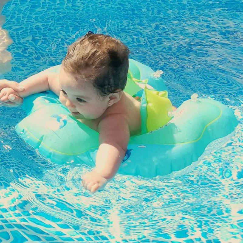 Baby Swimming Ring floating Children Waist Inflatable Floats Swimming Pool Toy for Bathtub and Pools Swim Trainer Random Color