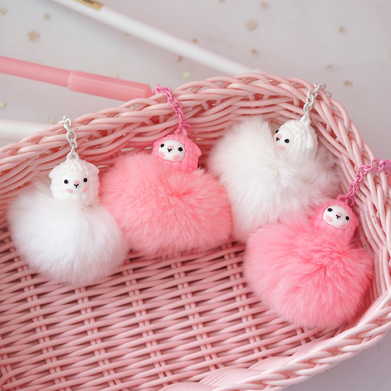 1X Cute Llama Hairball Pendant Gel Pen School Office Supply Student Stationery Writing Black Ink 0.5mm
