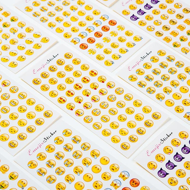 12 простыни детские/лот симпатичный мини забавные выражения пвх прозрачный корейский дети канцелярские декоративные наклейки документы хлопья для карт