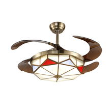 Ceiling Fan Lights High Power 36w 220V Remote Control 3 Colors Lamp Indoor Decor Living Room Tricolor Light
