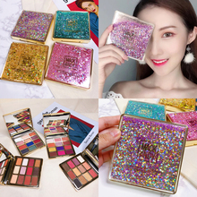 Eyeshadow Palette Cosmetic Diamond Glitter Metallic 12 Color Pallete Nude Creamy Pigmented Professional Makeup