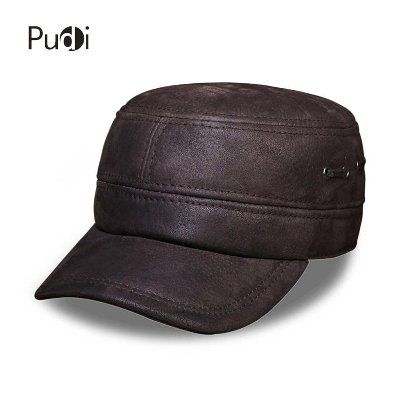 HL086 Pánská pravá kožená kšiltovka zbrusu nová zimní teplá ruská kožená čepice