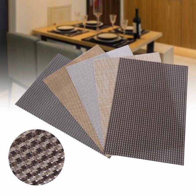 4 pcs/lot napperon moderne pvc salle tapis de table des plaquettes