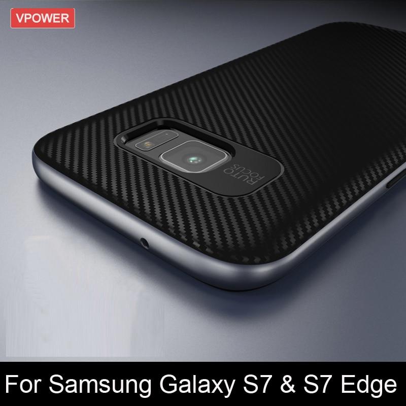För Samsung Galaxy S8 / S8 Plus / S7 Edge Case Vpower Luxury Hybrid - Reservdelar och tillbehör för mobiltelefoner - Foto 1
