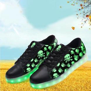 Sneakers Vol Chaussures Lumière Pour Femelle Crâne Phares Lumières Printemps Led Colorées De Plarform Femmes Adulte Conseil PEXwxyRaqH