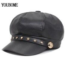 Hat Octagonal-Hats Newsboy-Cap Women's Brand YOUBOME for Fashion Female Visor Girls Gorros