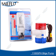 ФОТО wholesale 40pcs 12v 1100gph non-automatic bilge pump with float switch