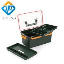 2шт TOPIND темно-зеленый снасти Коробка (12.99x7.68x6.03 дюйма)утилита инструмент коробка для хранения большой рыболовные снасти чехол инструмент Коробка