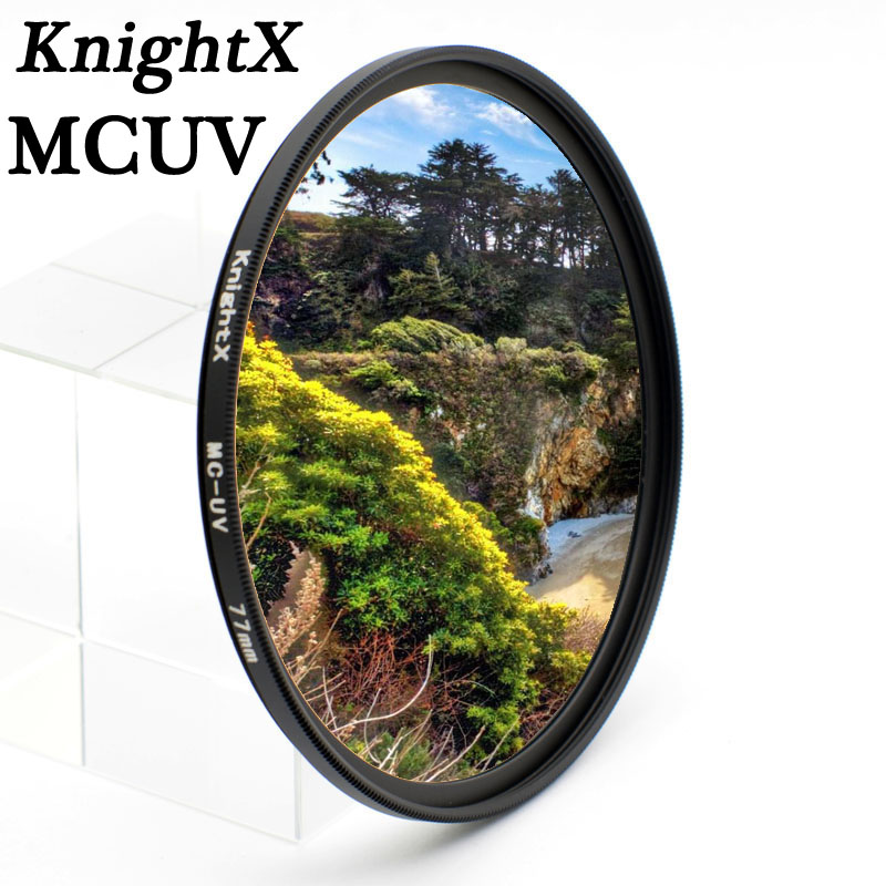 KnightX 49mm 52mm 58 MM 62mm 77 MM MC uv filter 67mm Lens Filter UV untuk Nikon d750 700d d70 d90 untuk canon 1200d D3200 d3300