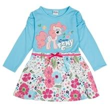 Girls Long Sleeve Dress Little pony Dress Spring Autumn Cotton Embroidered Girl Flowers for Kids Wearing Girls Dresses H6480D