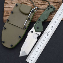 Tactical Knife Dwaine Carrillo 7cr15mov steel Fixed Blade Knife Hunting Survival Knives Camping Outdoor Tools With ABS Sheath r7