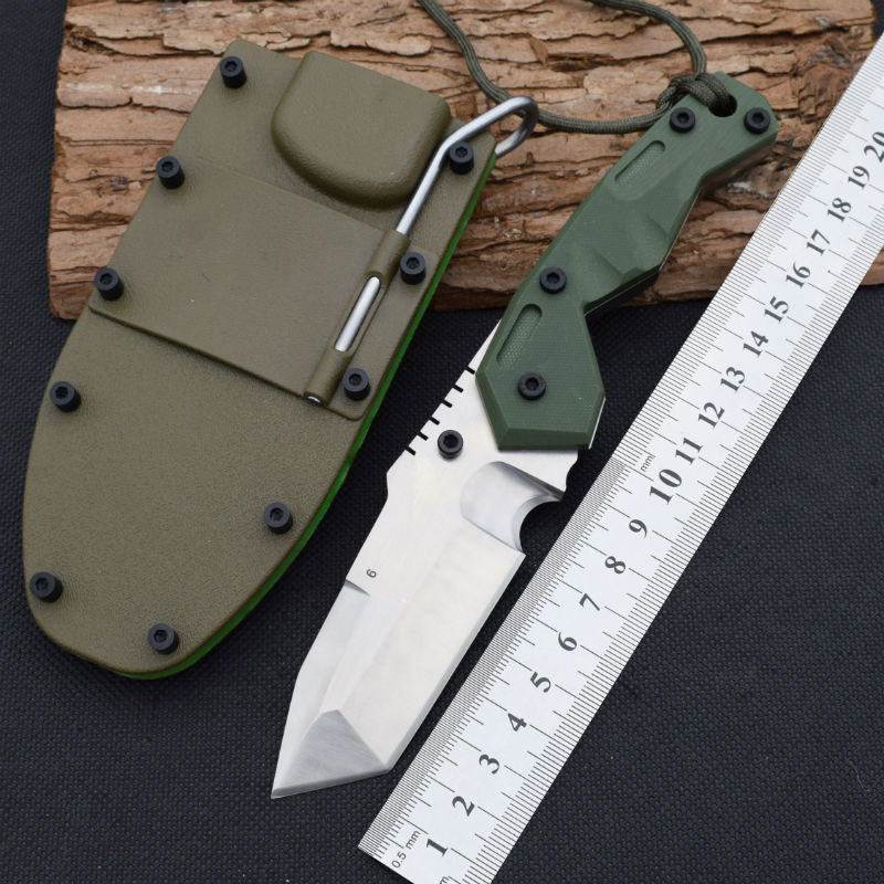 все цены на  Tactical Knife Dwaine Carrillo 7cr15mov steel Fixed Blade Knife Hunting Survival Knives Camping Outdoor Tools With ABS Sheath r7  в интернете
