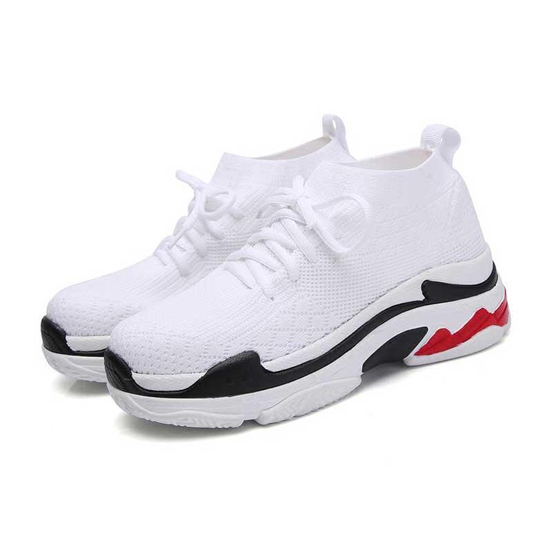 Femmes chaussures femme décontractées Chaussure femme noir blanc rouge respirant Runing Chaussure fille Sport Chaussure étudiant baskets automne 2018