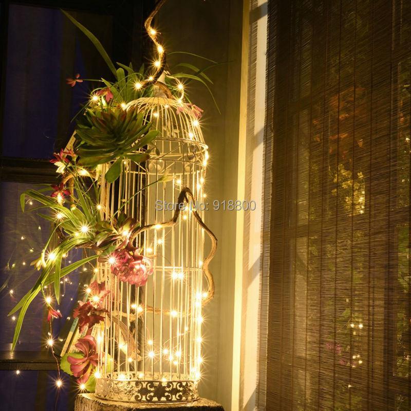 LED-stränglampor 5M 10M DC 12V Silverkoppar Wire Fairy Garland - Festlig belysning - Foto 5