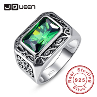 Emerald Cut Carving Flower Unisex Couple Rings Real Silver Vintage Rings Sterling Silver 925 for Women & Men Size 6 14