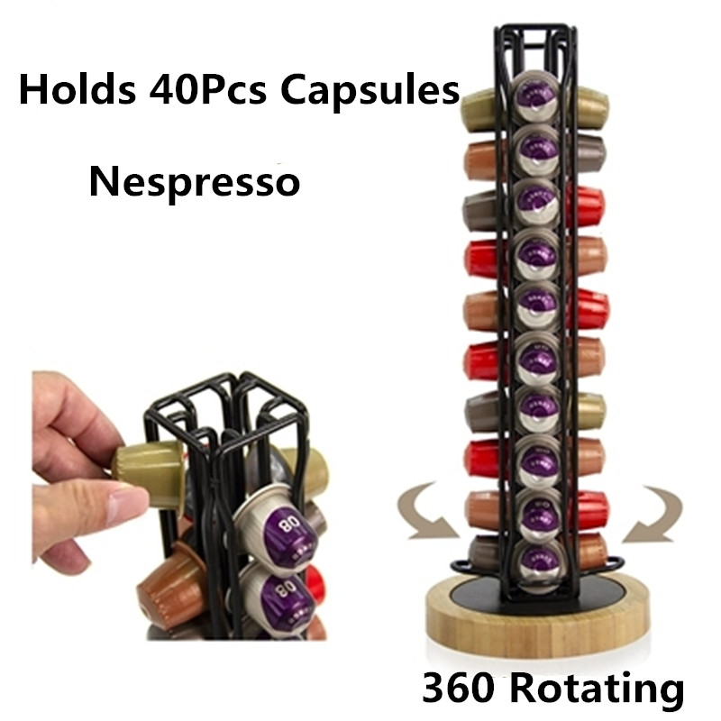 Nespresso Coffee Capsule Pod Tower Stand Coffee Pod Holder Dispenser Fits Nespresso Capsule Storage Coffee Filter Holder 2019
