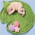 Flor de crochê bebê recém-nascido costume fotografia props chapéu do bebê tricô meninos infantil foto props bebê recém-nascido meninas bonito roupas