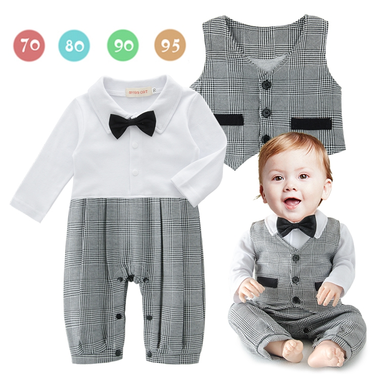 DHL EMS Free shipping baby boys 2 piece Suit rompers Waistcoat Little Gentlenman Party Wear Baby Clothing 8 pcs/lot Long Sleeve dhl ems 2 lots 1pc new schneider xs4p18pa340l1 a2
