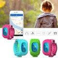 1 pc relógios crianças relógios de pulso Garoto Seguro Rastreador Relógio Inteligente Chamada SOS Localizador GPS moda casual silicone strap retângulo H5