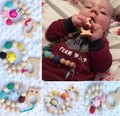 Clips manequim bebê mordedor Mordedor De Silicone e Madeira Ecológica orgânica contas Chupeta Clip de madeira Bonito Animal developmental toy