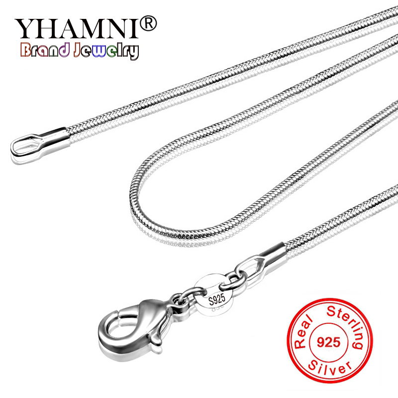 """1mm 925 sterling silver twist chain necklace 28/"""" long"""