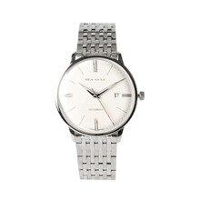 Seagull 10mm cienki antyodblaskowy kopułowy szafirowe cyfry rzymskie wystawa powrót automatyczny męski zegarek na rękę 816.519