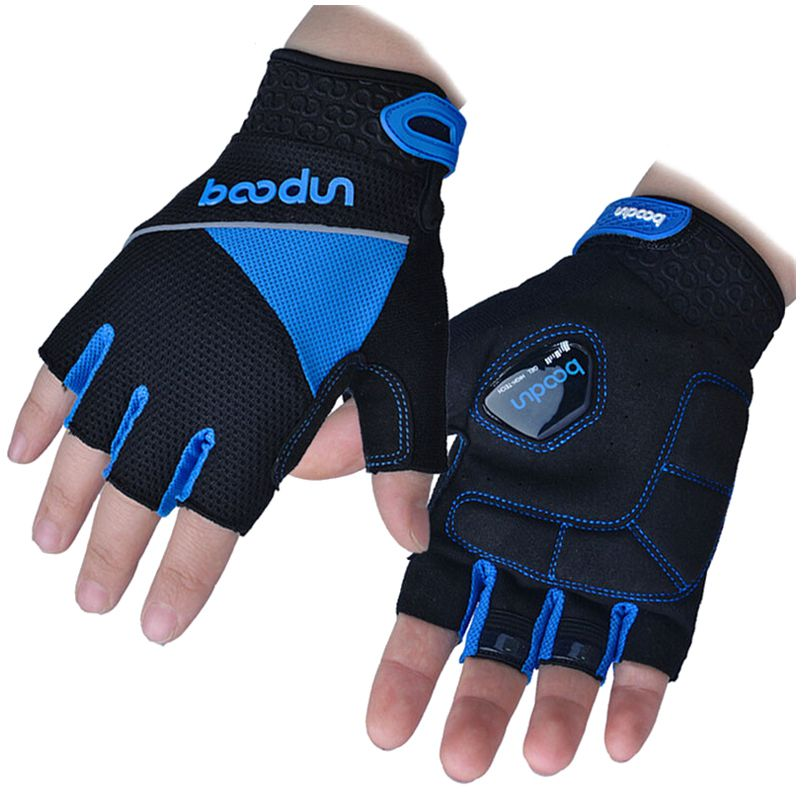 HOWO Running Gloves New Shockproof Half Finger Fitness Bicycle Bike Gloves M L XL XXL blue ...