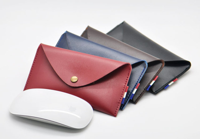 Arrival selling ultra-thin super slim sleeve pouch cover,microfiber leather laptop sleeve case for Apple Magic Mouse 2