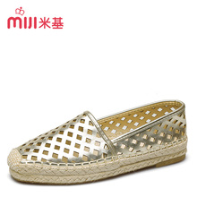 MiJi women's Breathable espadrilles Flats  sandals round toe Hollow slip-on shoes 2016 new summer fashion hot sale MX-80